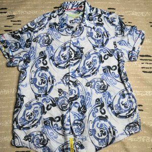 Men's Robert Graham Exclusive Linen Print 2XL
